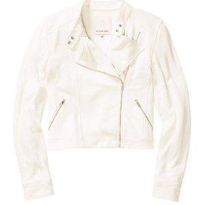 ✨Sunday Best White Kerouac Moto Jacket Size 4